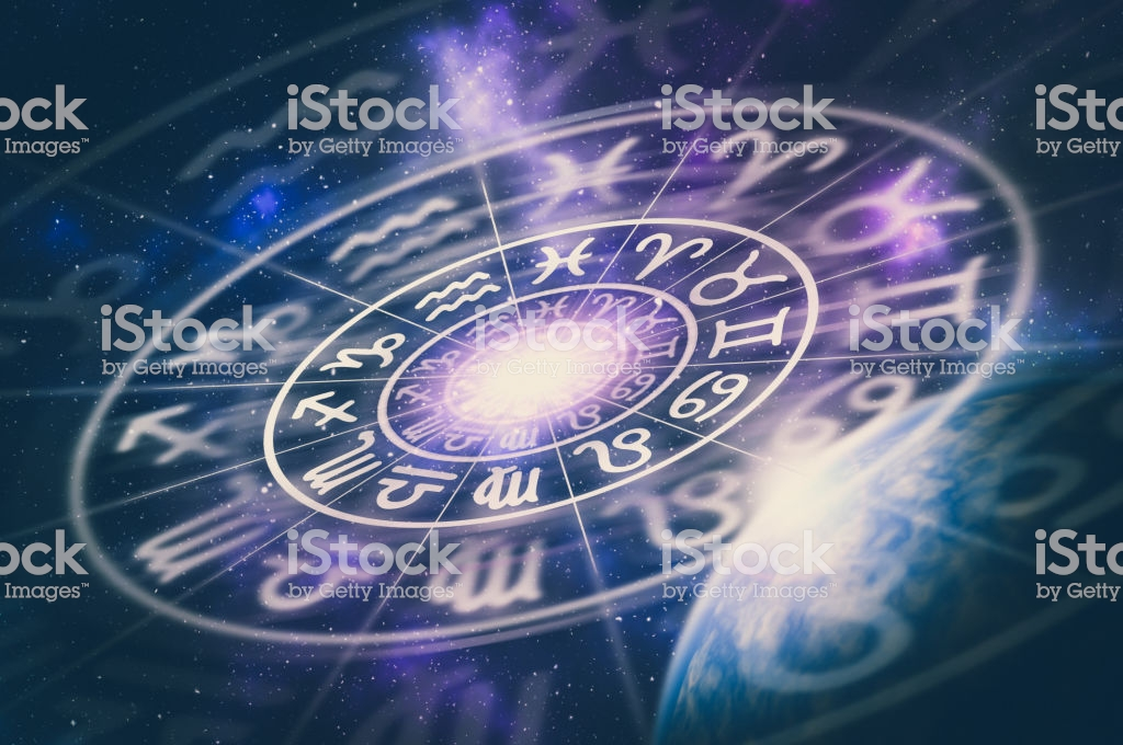 Astrological+zodiac+signs+inside+of+horoscope+circle+on+universe+background+-+astrology+and+horoscopes+concept